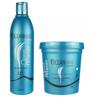 Ocean Hair Brazilian Keratin Treatment Wave Relaxer Ammonium Thioglycolate Kit 2 Products - Ocean Hair