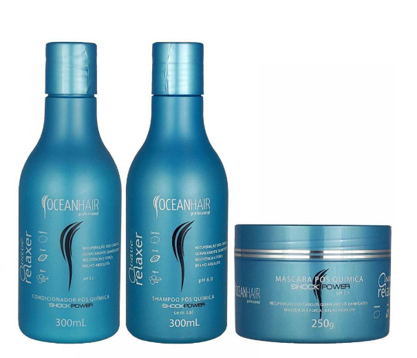 Ocean Hair Home Care Wave Relaxer Home Care Maintenance Kit 3 Products - Ocean Hair