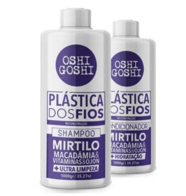 Oshi Goshi Home Care Plastic of Wires Reconstruction Mirtilo Ultra Fast Hydration Kit 2x1L - Oshi Goshi