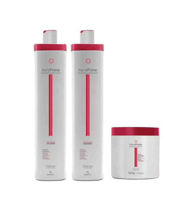 Other Brands Brazilian Keratin Treatment Brazilian keratin Hair Treatment KeraPrime Progressive Kit 3 Products - Beox