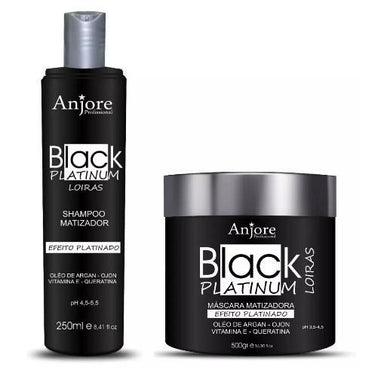 Other Brands Brazilian Keratin Treatment Professional Black Platinum Effect Blonde Tinting Treatment 2 Products - Anjore