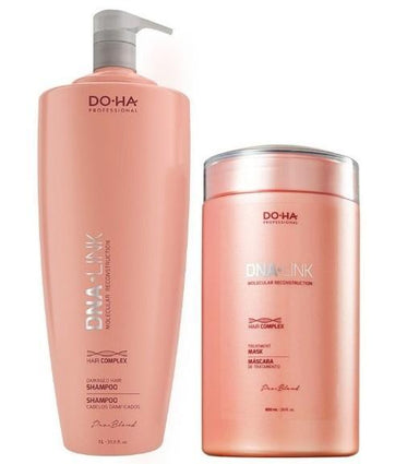 Other Brands Brazilian Keratin Treatment Professional Pro Blend DNA Link Hair Complex Treatment Kit 2 Products - Do-ha