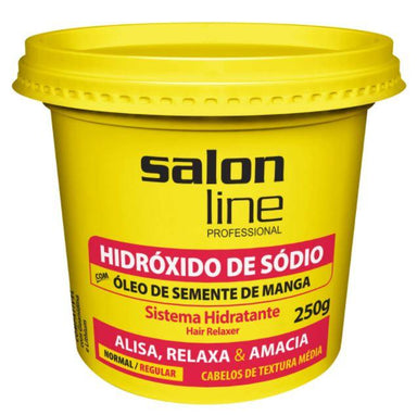 Other Brazilian Keratin Treatment Regular Sodium Hydroxide Normal Hair Relaxer Transition Cream 250g - Salon Line