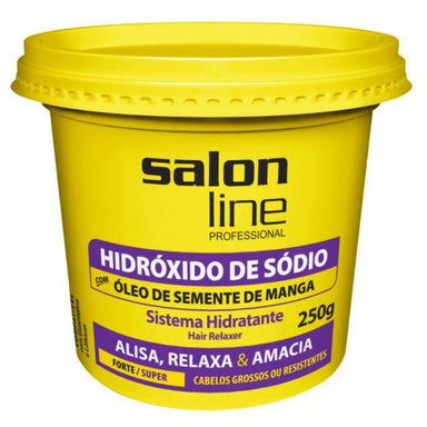 Other Brazilian Keratin Treatment Sodium Hydroxide Strong Super Hair Relaxer Transition Cream 250g - Salon Line