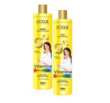 Other Brazilian Keratin Treatment Vitamins Advanced Formula Hair Alignment Treatment G12 Kit 2x1L - Vogue Fashion