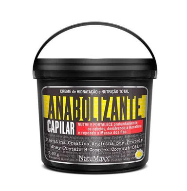 Other Hair Mask Total Nutrition Hydration Cream Anabolic Hair Strengthens Mask 3,2Kg - Natumaxx