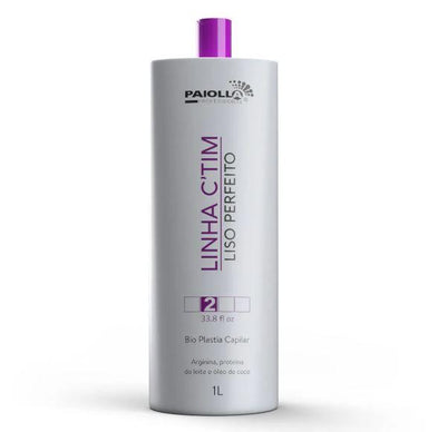 Paiolla Brazilian Keratin Treatment Arginine Milk Protein Coconut Oil Bioplasty C'TIM Perfect Smooth 1L - Paiolla