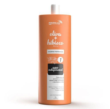 Paiolla Brazilian Keratin Treatment Biotin Collagen Indispensable Use Olive Hibiscus Preparer Shampoo 1L - Paiolla