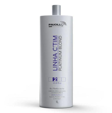 Paiolla Brazilian Keratin Treatment Hair Bioplasty Discolored Gray Platinum Blond C'TIM Progressive 1L - Paiolla
