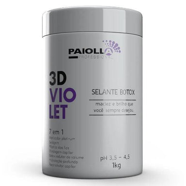 Paiolla Brazilian Keratin Treatment Shielding Reductor Platinum Tinting Botox 3D Violet Sealant 7 in 1 1Kg - Paiolla