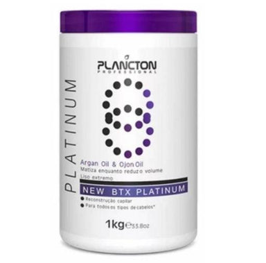 Plancton Professional Brazilian Keratin Treatment BTX Platinum Tinting Argan and Ojon Hair Mask Moist 1Kg - Plancton Professional