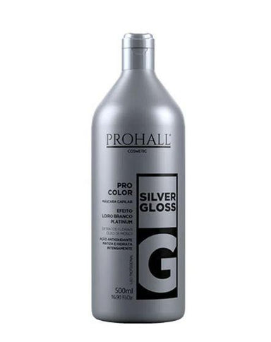 Prohall Brazilian Keratin Treatment Pro Color Silver Gloss Platinum Effect Tinting Yellow Hair Mask 500ml - Prohall