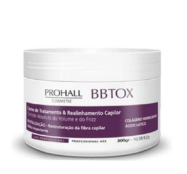Prohall Hair Mask Capillary Bbtox Max Repair Absolute Volume and Frizz Control Mask 300g - Prohall