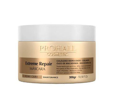 Prohall Hair Mask Extreme Repair Home Care Maintenance Collagen Macadamia Mask 300g - Prohall