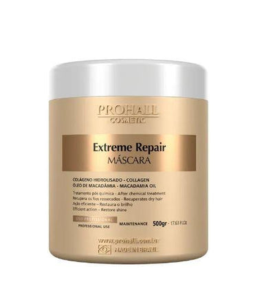 Prohall Hair Mask Extreme Repair Home Care Maintenance Collagen Macadamia Mask 500g - Prohall
