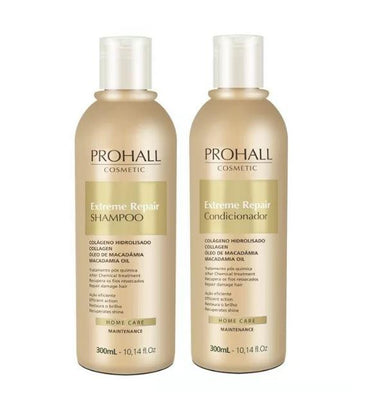 Prohall Home Care Extreme Repair Maintenance Collagen Macadamia Home Care Kit 2x300ml - Prohall