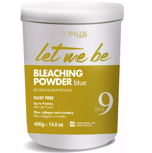 ProSalon Brazilian Hair Treatment Let Me Be Blue Bleaching Powder Up to 9 Tones 400g - ProSalon