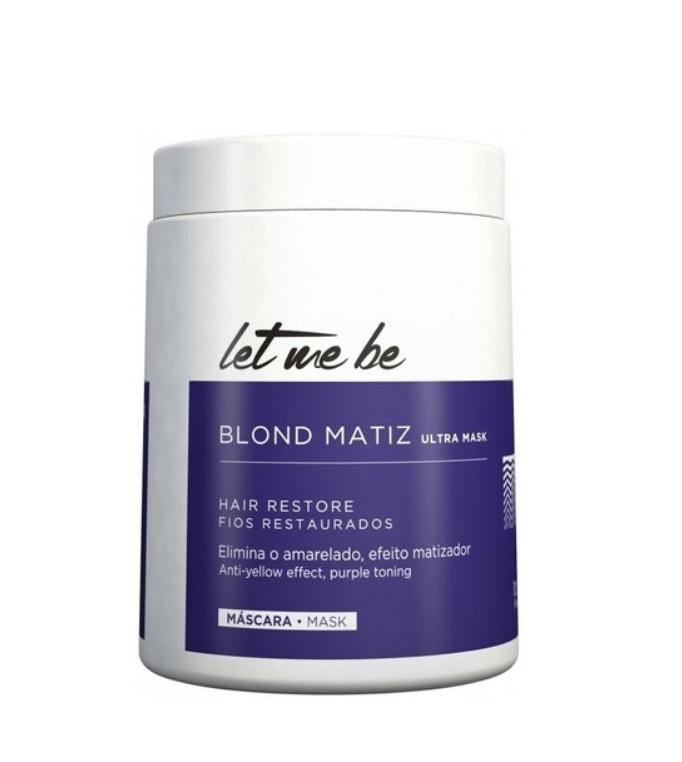 ProSalon Hair Mask Anti Yellow Ultra Blue B-btox Blond Matiz Platinum Tinting Mask 500ml - ProSalon