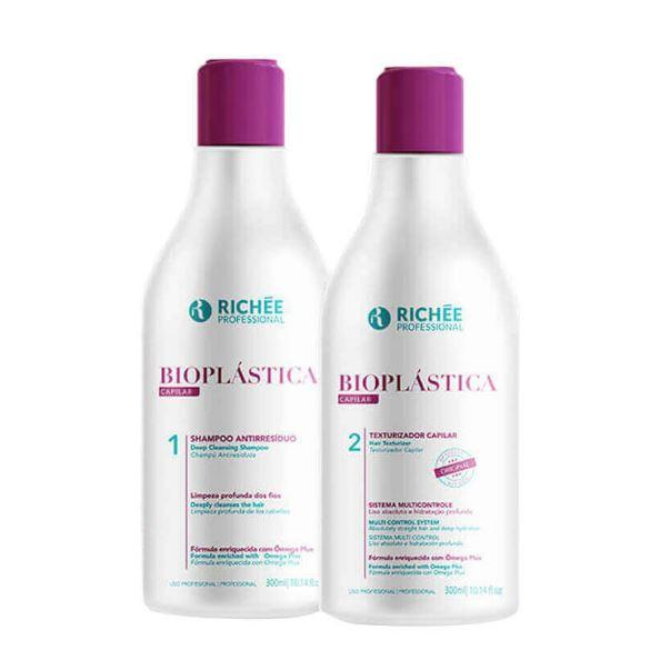 Brazilian Bioplasty Hair Cleaning Hydration Shine Treatment Kit 2x300ml - Richée