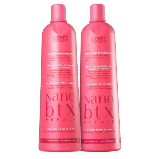 Professional Brazilian Nano B.TX Lavatory Strong Soft Treatment 2x1L - Richée