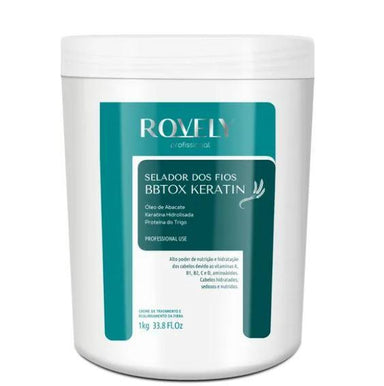 Rovely Brazilian Keratin Treatment Hair Sealing Wheat Protein Keratin Avocado Reconstruction BBtox 1Kg - Rovely