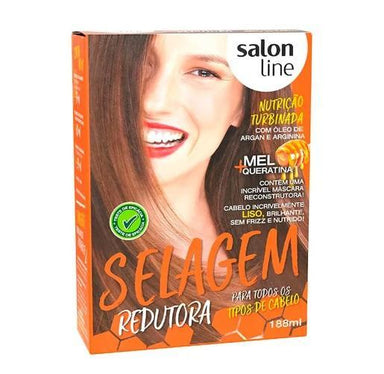 Salon Line Brazilian Keratin Treatment Defrizante Anti Frizz All Hair Types Sealing Reductor Treatment Kit - Salon Line