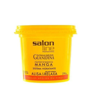 Salon Line Brazilian Keratin Treatment Guanidina Mango Seed Oil Hair Smooth Relaxes Hydrating System 218g - Salon Line