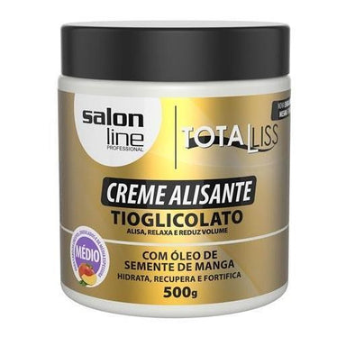 Salon Line Brazilian Keratin Treatment Smoothing Cream Mango Seed TotaLiss Softness Anti Frizz Shine 500g - Salon Line