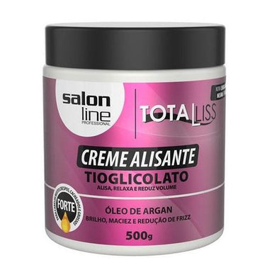 Salon Line Brazilian Keratin Treatment Smoothing Cream TotaLiss Argan Oil Shine Softness Anti Frizz 500g - Salon Line