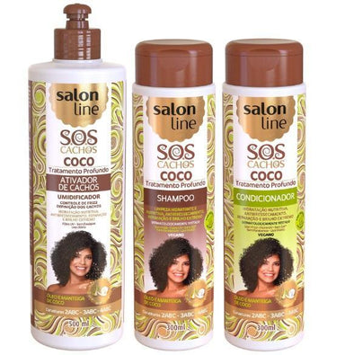 Salon Line Home Care Professional Home Care Treatment Kit SOS Coconut Curls 3 Products - Salon Line