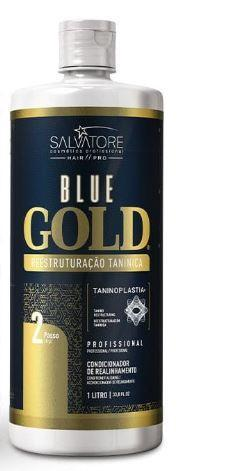 Salvatore Brazilian Keratin Treatment 2018 New Edition Blue Gold System Tanino Restructuring Treatment 1L - Salvatore
