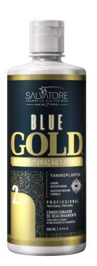 Salvatore Brazilian Keratin Treatment 2018 New Edition Blue Gold System Tanino Restructuring Treatment 500ml - Salvatore