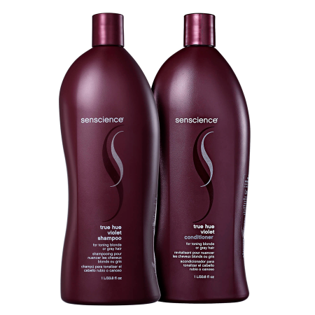 True Hue Violet Salon for Toning Blonde or Gray Hair Treatment 2x1L - Senscience