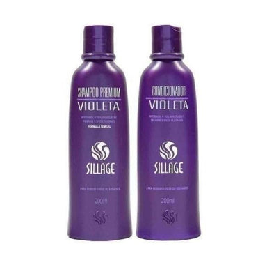 Sillage Home Care Violet Premium Blond Gray Hair Tinting Toning Treatment Kit 2x200ml - Sillage