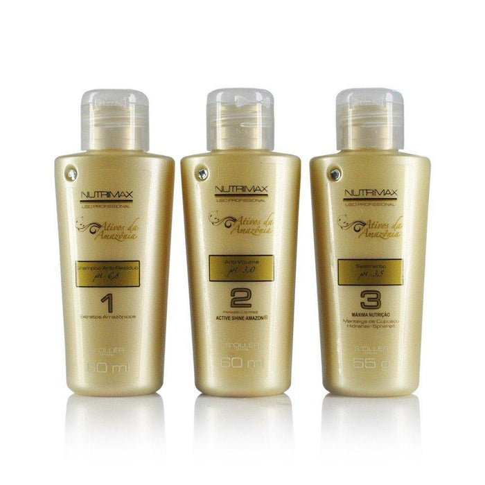 Soller Brazilian Keratin Treatment Agi Max Nutrimax Progressive Brush Kit 3x60ml - Soller