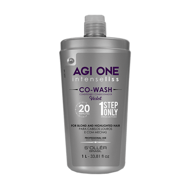 Soller Brazilian Keratin Treatment Agi One Intenseliss Co Wash Violet Treatment 1L - Soller