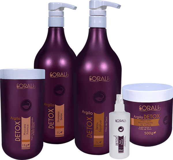 Sorali Brazilian Hair Treatment Kit Argilo Detox - Sorali