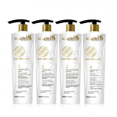 Professional Crhonus Capillary Schedule 4 Steps Treatment 4x500ml - Souple Liss