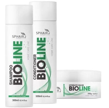 Sphair Home Care Bioline Organic Home Care Maintenance Hair Treatment Kit 3 Products - Sphair