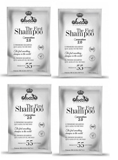 Sweet Brazilian Keratin Treatment 4 x 50ml Sachet of The First Shampoo Straightening (200ml total) - SWEET