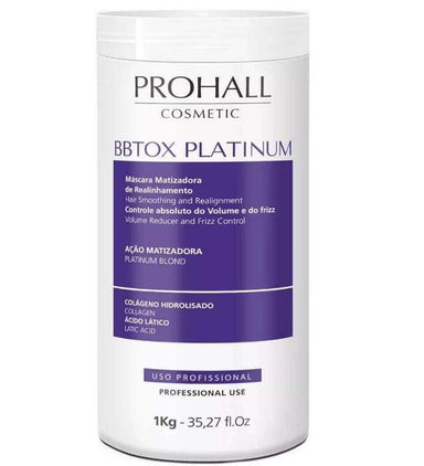 The Keratin Store Hair Bbtox Max Platinum Yellow Neutralizer Realignment Toning Mask 1Kg - Prohall