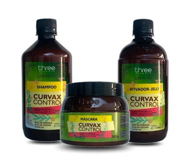 Three Therapy Brazilian Keratin Treatment Curvax Control Curly Wavy Moringa Tucumâ Treatment Kit 3x500 - Three Therapy