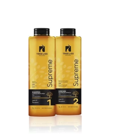 Tree Liss Brazilian Keratin Treatment Supreme Progressive Brush with Special Oils Kit 2x1L - Tree Liss