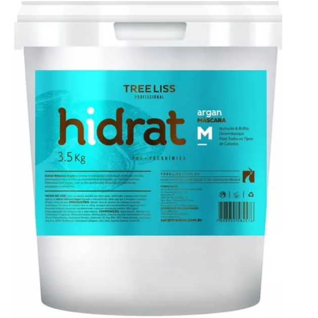 Tree Liss Hair Mask Hidrat Argan Mask 3,5kg - Tree Liss