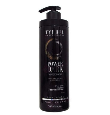 Tyrrel Brazilian Keratin Treatment Platinum Effect Tinting Matize Mask Pearl Black Balm Power 500ml - Dark Tyrrel