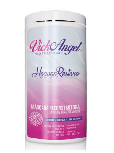 Vick Angel Brazilian Keratin Treatment Heaven Restore Reconstruction Web Effect Anti Rubbering Mask 1Kg - Vick Angel