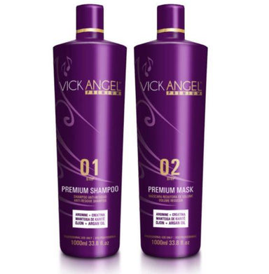 Vick Angel Brazilian Keratin Treatment Premium Progressive Brazilian Blowout Keratin Replenishing Kit 2x1L - Vick Angel