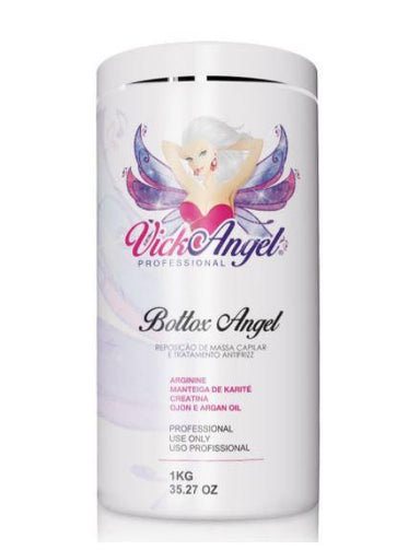 Vick Angel Brazilian Keratin Treatment Professional Bottox Angel Mass Replacement Anti Frizz Mask 1Kg - Vick Angel