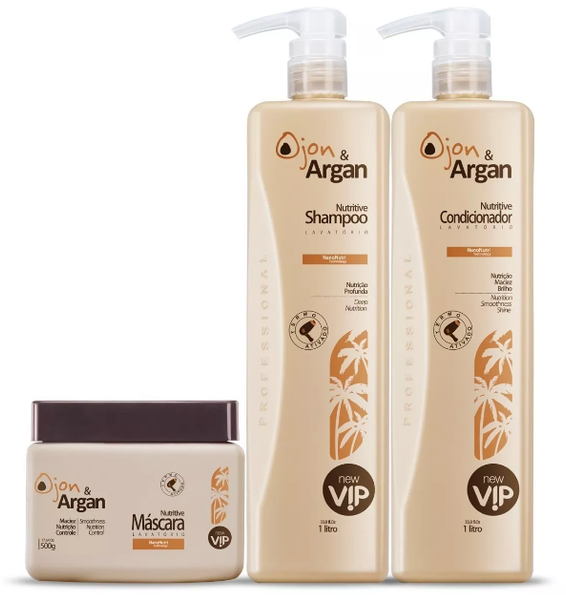 VIP Brazilian Keratin Treatment Ojon & Argan Treatment Kit 3 Products - VIP