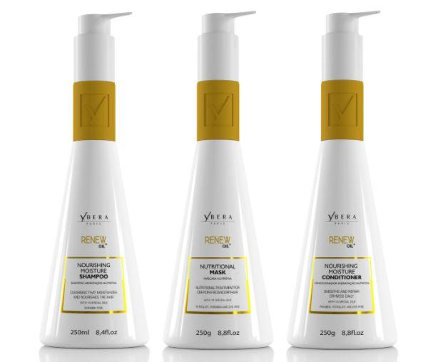 Ybera Brazilian Keratin Treatment Renew Oil Hair Moisturizing Maintenance Home Care 3 Products - Ybera Paris